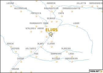 map of Elvas