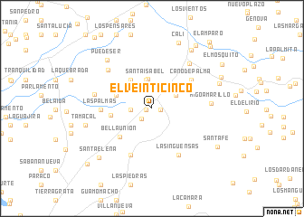 map of El Veinticinco