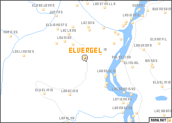 map of El Vergel