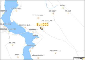 map of Elwood