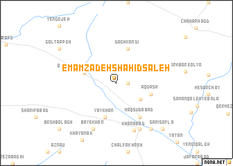 map of Emāmzādeh Shahīd Şāleḩ
