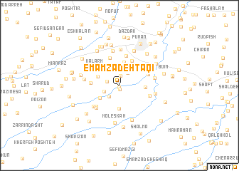 map of Emāmzādeh Taqī