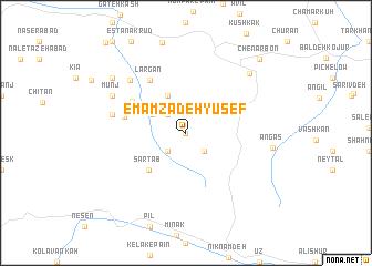 map of Emāmzādeh Yūsef