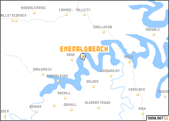 map of Emerald Beach