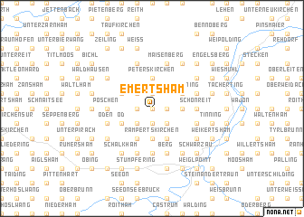 map of Emertsham
