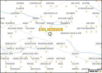 map of Emilianówka