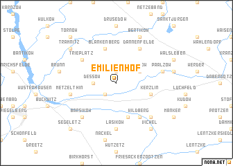 map of Emilienhof