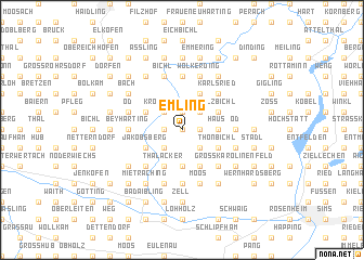 map of Emling