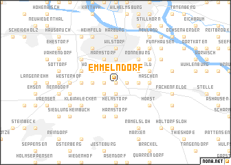 map of Emmelndorf