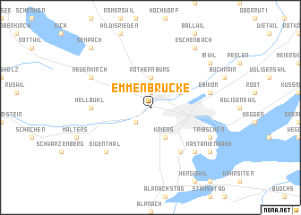 map of Emmenbrücke