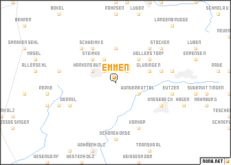 map of Emmen