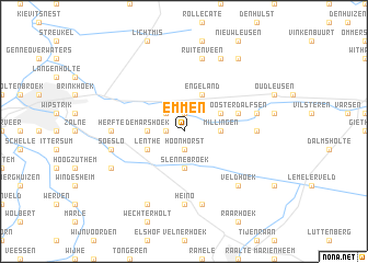 Emmen Netherlands map nonanet
