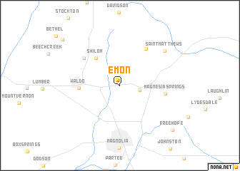 map of Emon