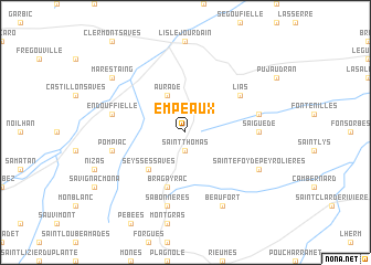 map of Empeaux