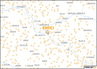 map of Emrići
