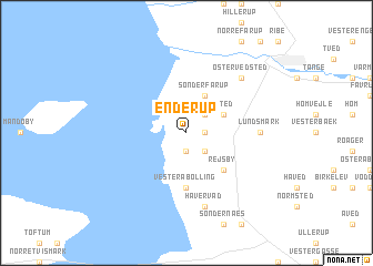 map of Enderup