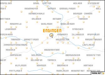 map of Endingen