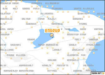 map of Endrup