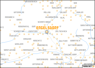 map of Engelsdorf