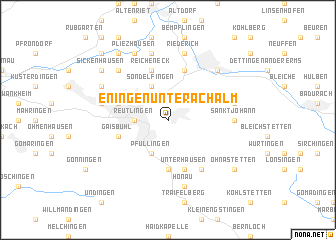 map of Eningen unter Achalm