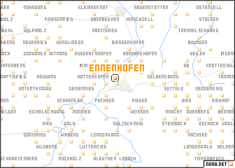 map of Ennenhofen