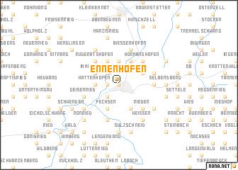 map of Ennenhofen