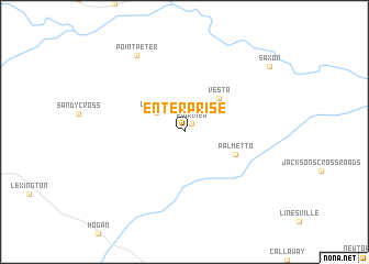 map of Enterprise