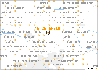 map of Enzersfeld