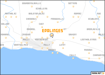 map of Epalinges