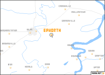 map of Epworth