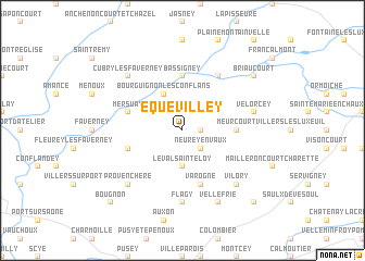 map of Équevilley