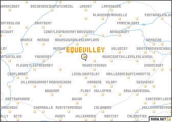 map of Équevilley