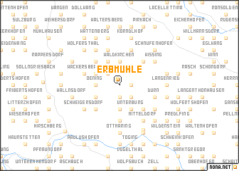 map of Erbmühle