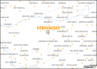 map of Erbshausen