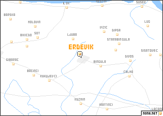 erdevik mapa Erdevik (Serbia and Montenegro) map   nona.net erdevik mapa