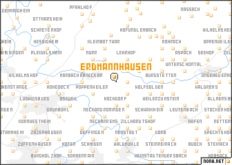 map of Erdmannhausen