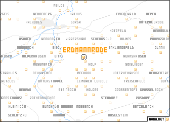map of Erdmannrode