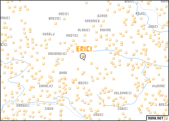 map of Erići