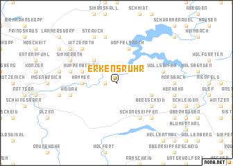 map of Erkensruhr