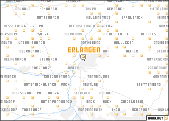 Erlangen Germany map nonanet