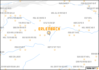 map of Erlenbach