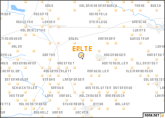 map of Erlte