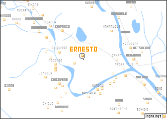 map of Ernesto