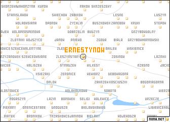 map of Ernestynów
