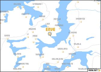 map of Erve