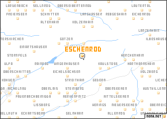 map of Eschenrod
