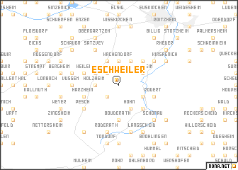 map of Eschweiler