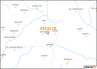 map of Escolca