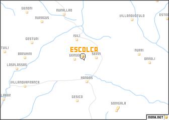 map of Escolca