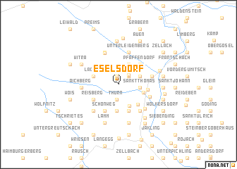 map of Eselsdorf